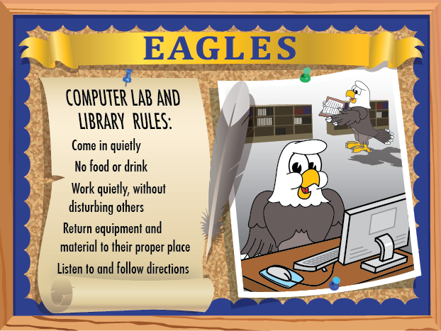 eagle rule poster for library pbis posters welcome back to school clipart images welcome back to school clipart free