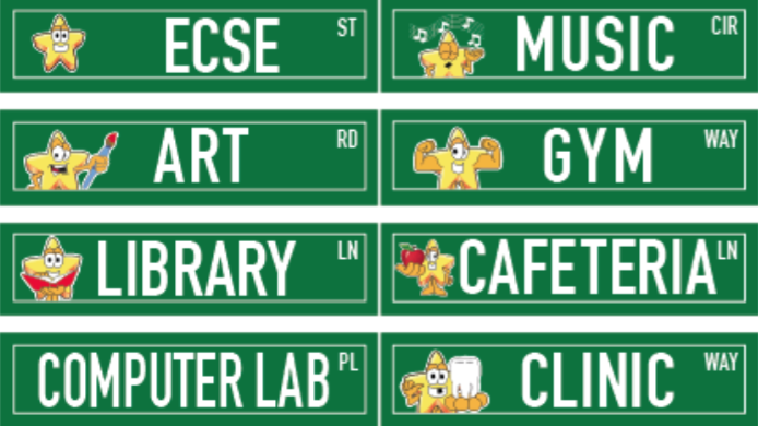 PBIS Street Signs for Stars