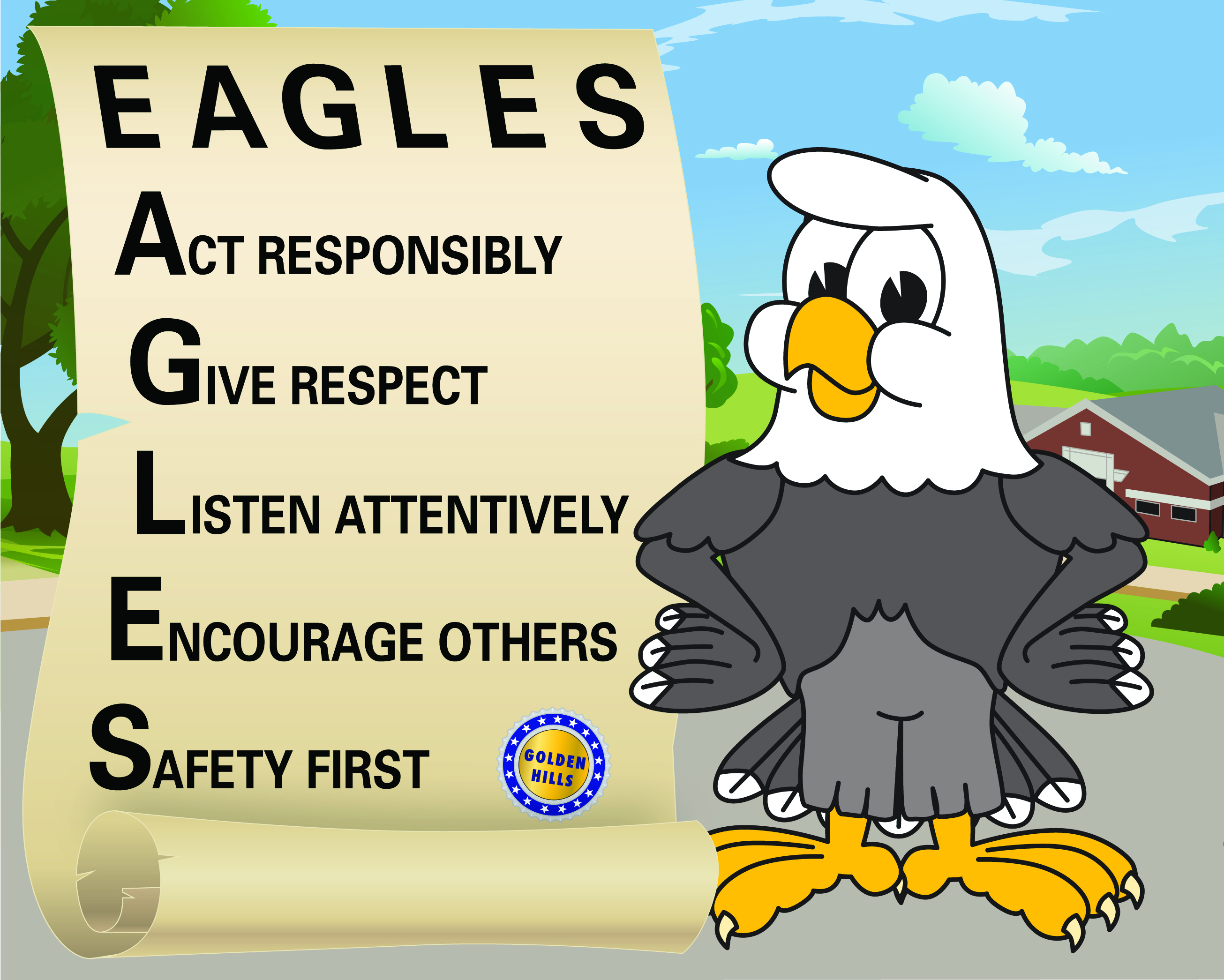 Eagle Poster used by Macmillan Higher Education