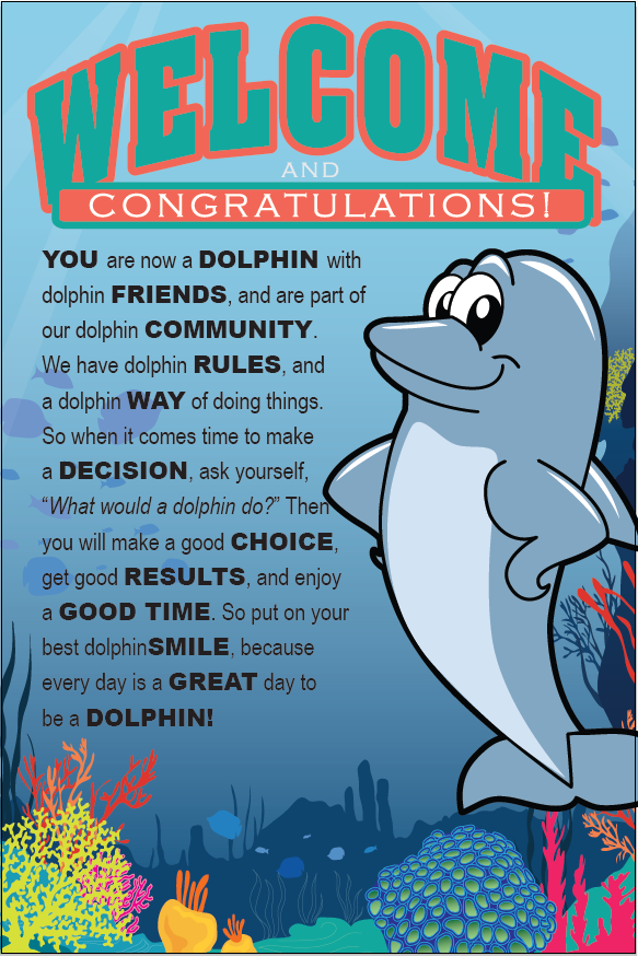 PBIS Posters Dolphin Mascot