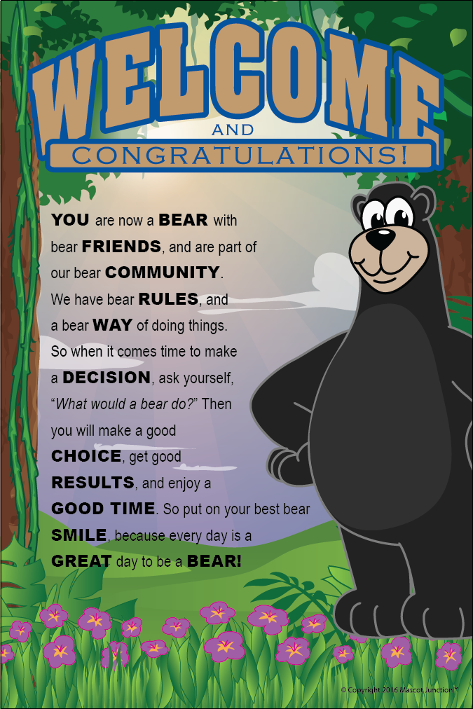PBIS Bear Poster