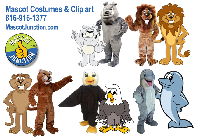 School Mascot Costumes Clipart