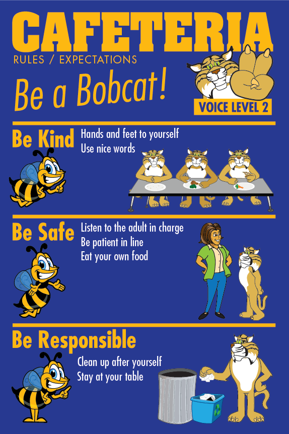 Rules Poster Cafeteria PBIS