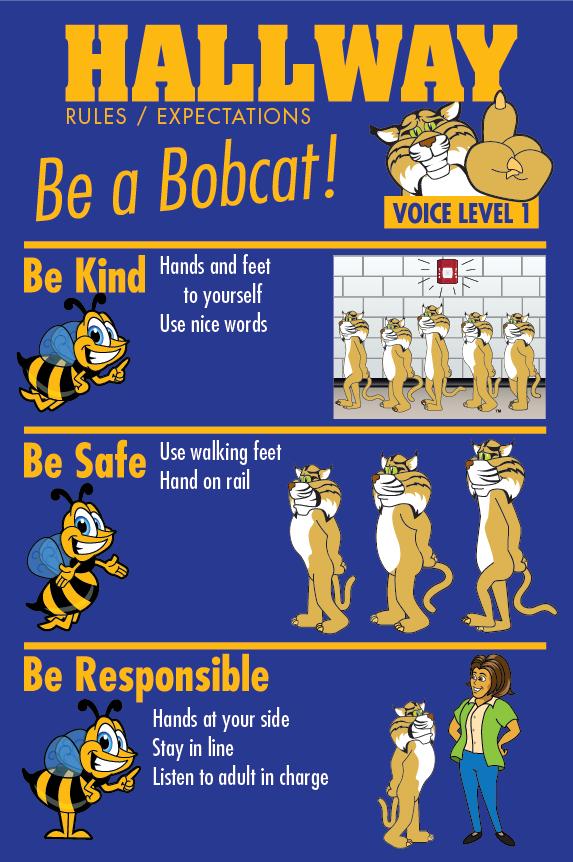 Rules Poster Hallway PBIS