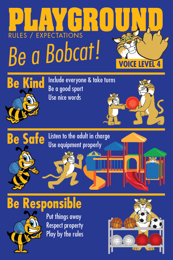 Rules Poster Playground PBIS