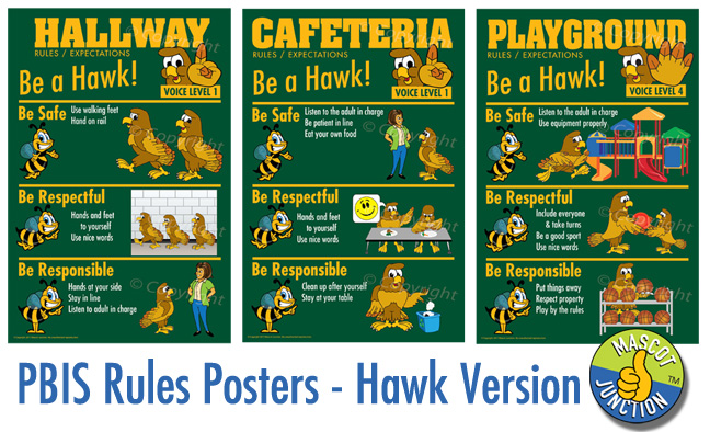 Hawk PBIS Rules Posters