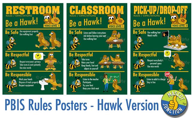 Hawks SOAR PBIS posters