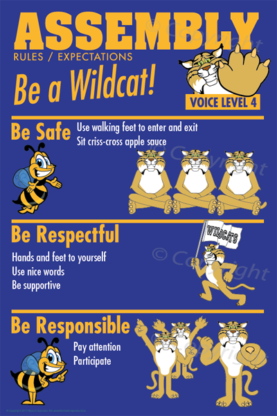 Wildcat Assembly PBIS Posters