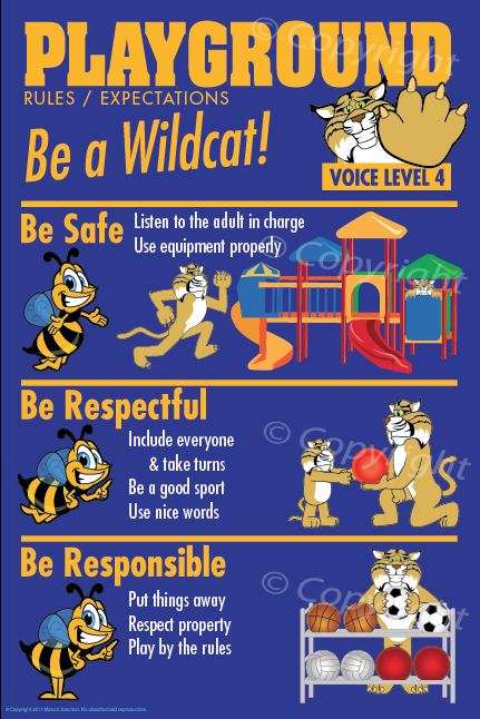 Wildcat Pbis Rules Posters Pbis Posters