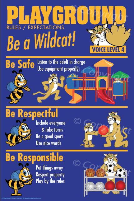 Wildcat Playground PBIS Posters