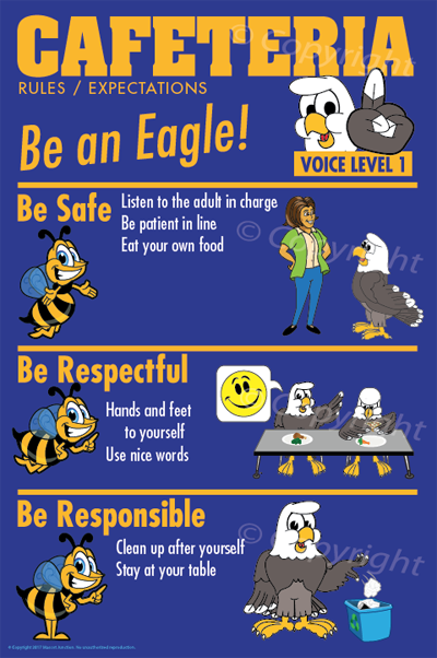 PBIS Posters Cafeteria Rules Eagle