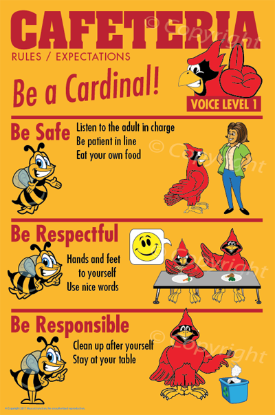 PBIS Posters Cardinal CafeteriaRules