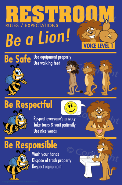 PBIS Rules Posters Bathroom / Restroom