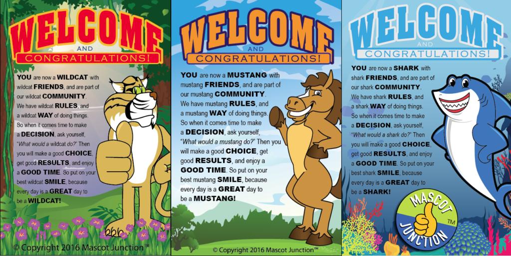 PBIS Posters Wildcat Mustang Shark