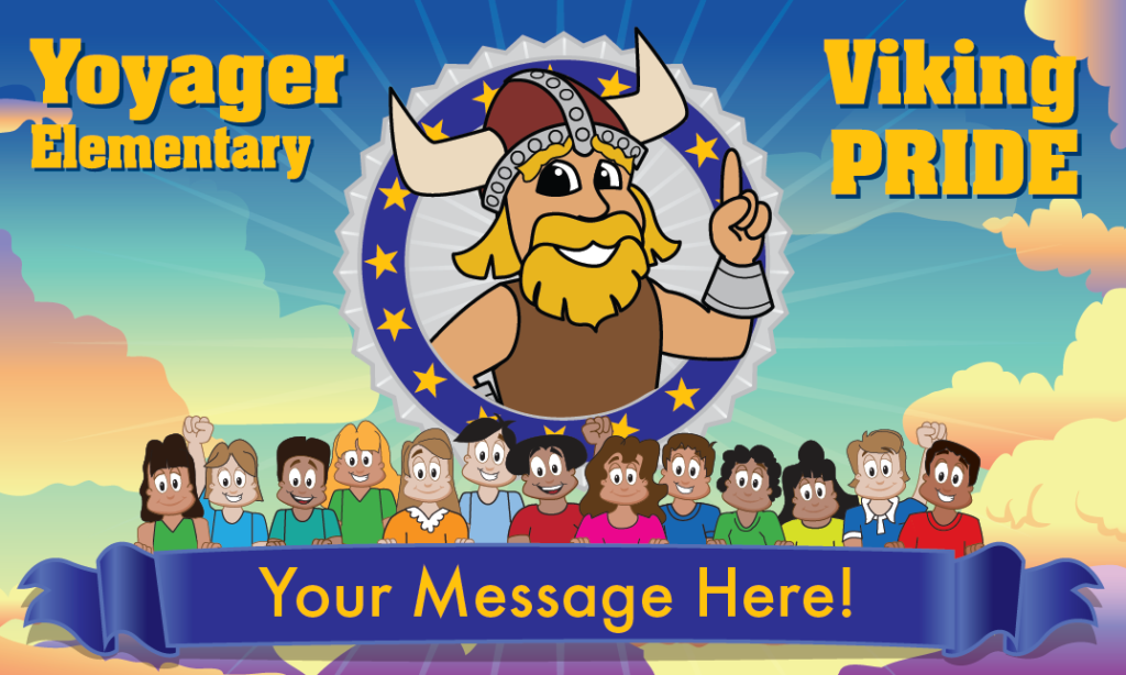 Viking Mascot Banner PBIS
