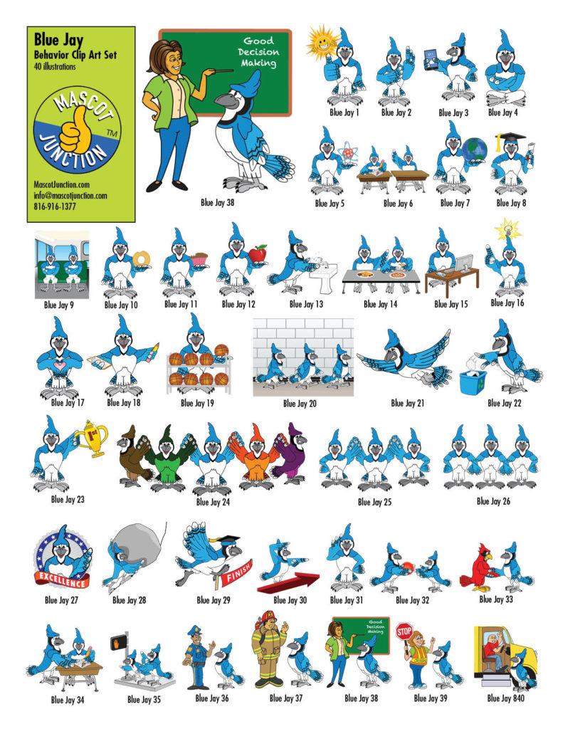 Blue Jay Behavior Clip Art